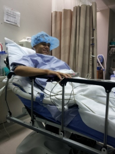 Vee before the surgery
